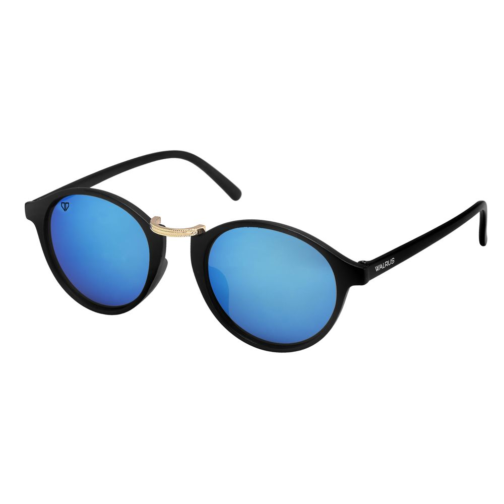 Walrus James Blue Mirror Color Unisex Oval Sunglass - WS-JAMES-200206