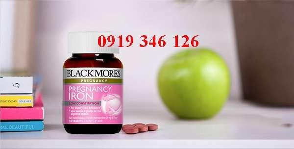 Viên uống bổ sung sắt cho bà bầu Blackmores Pregnancy Iron 891