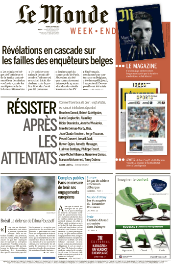 Le Monde du Samedi 26 Mars 2016