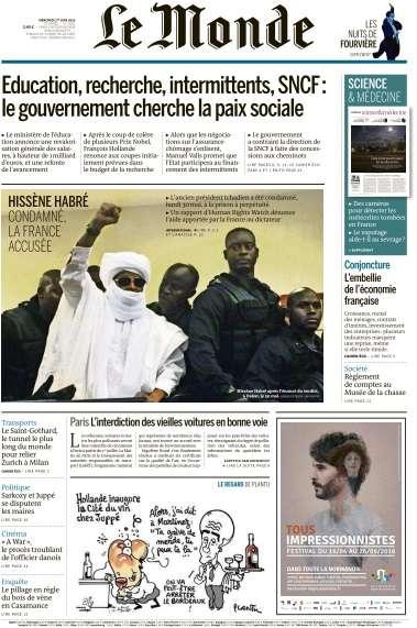 Le Monde du Mercredi 1 Juin 2016
