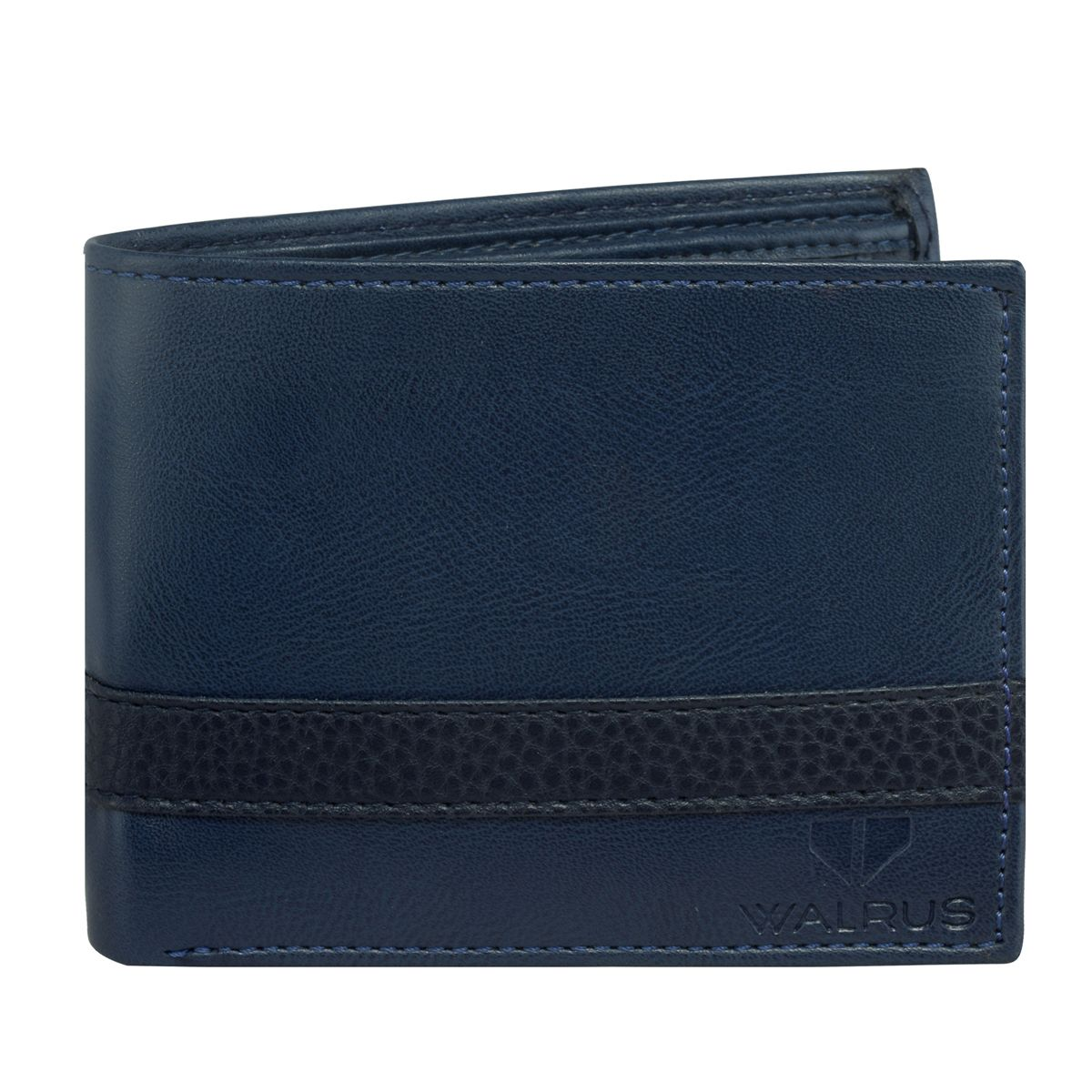 Walrus Levi Blue Color Men Leather Wallet- WW-LV-03