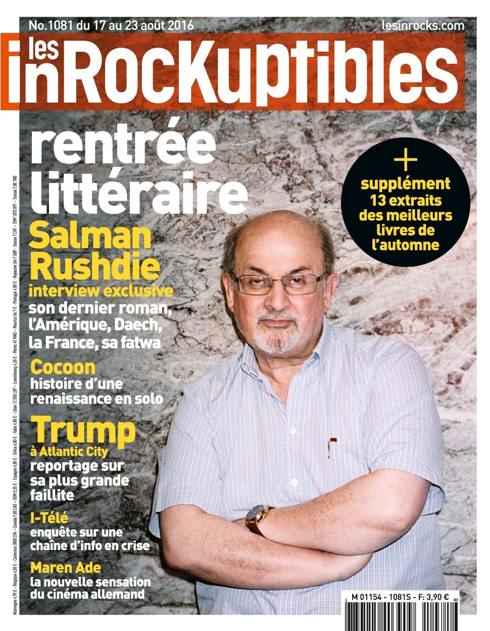 Les Inrockuptibles 1081 - 17 au 23 Août 2016