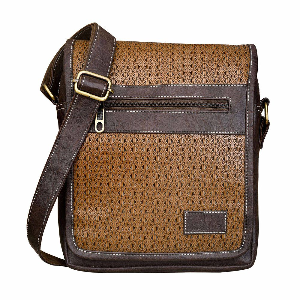 Walrus Volga Brown Color Premium Finish Unisex Messenger Bag