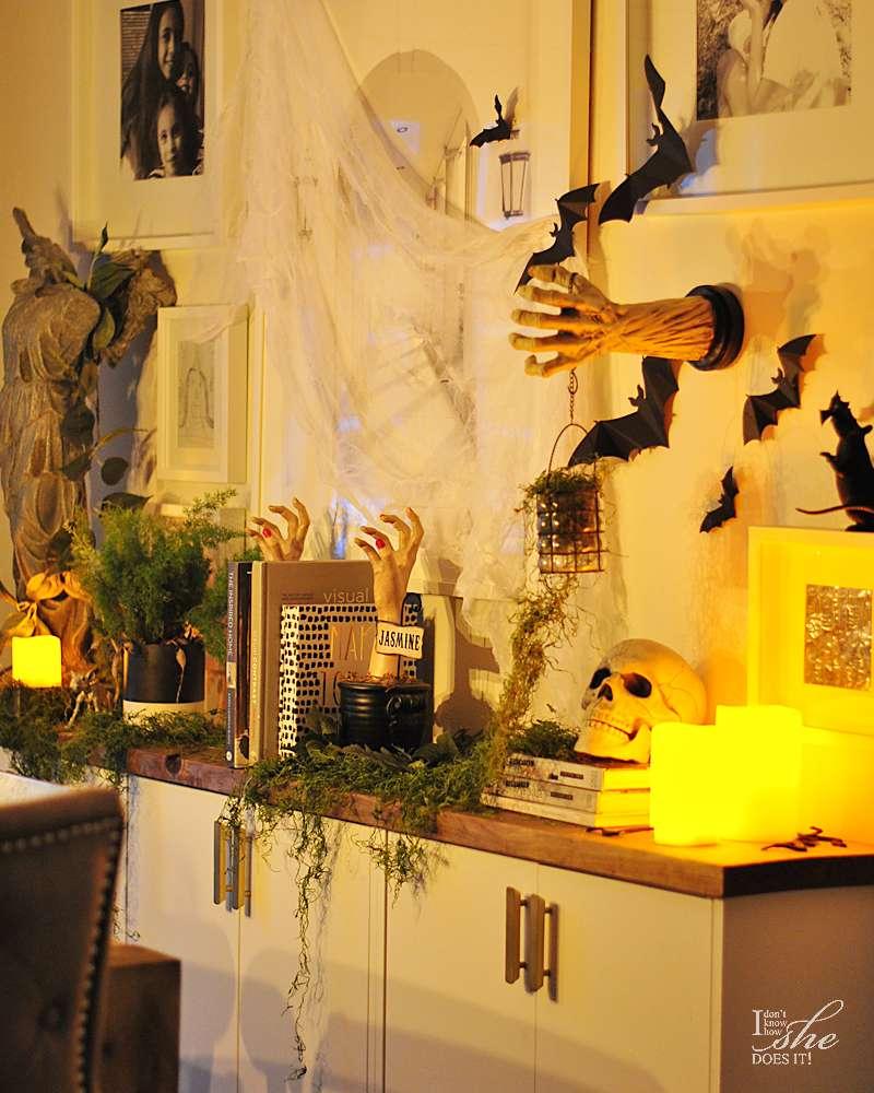 Haunted dining sideboard night