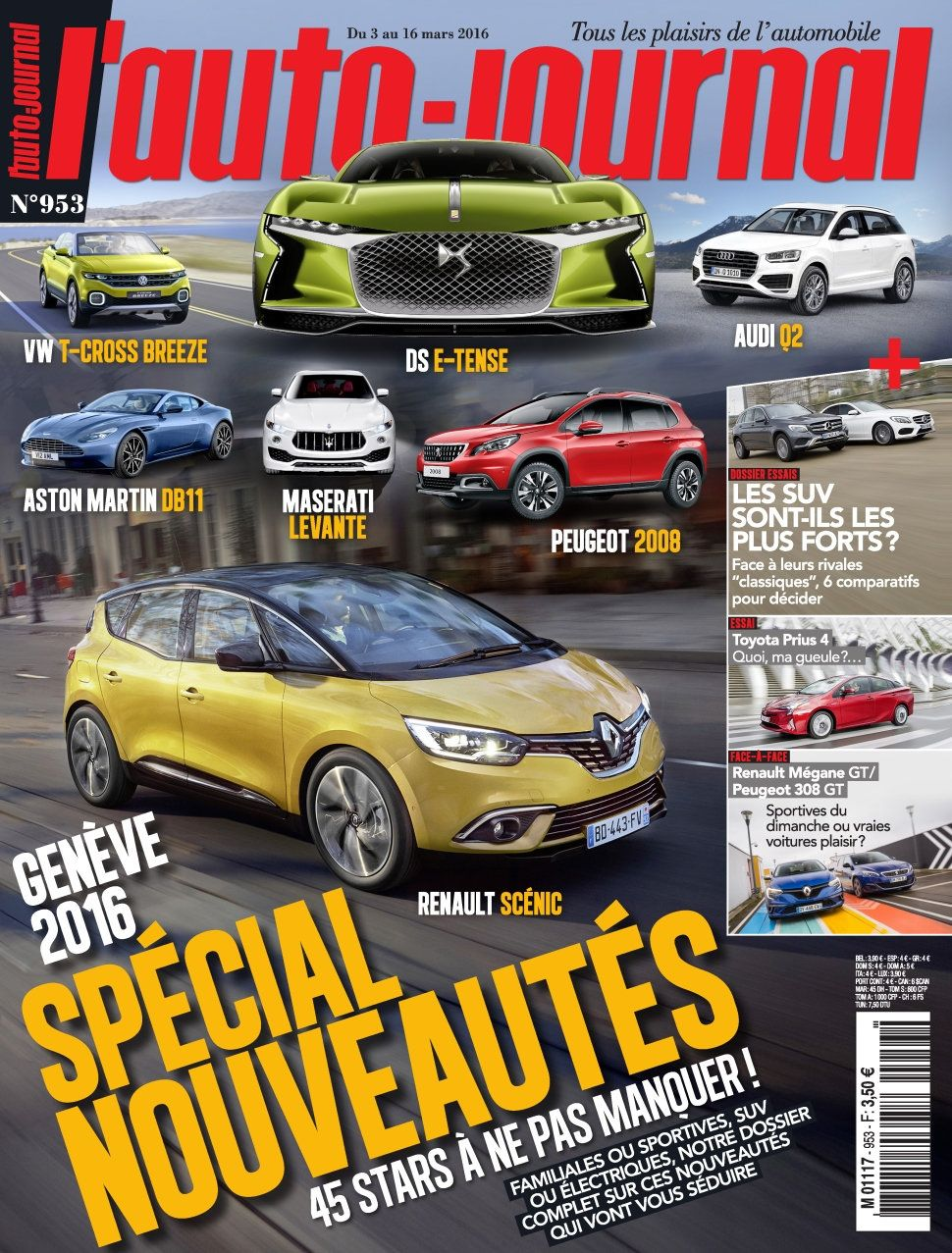 L'Auto-Journal 953 - 3 au 16 Mars 2016