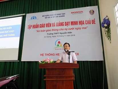 Ông Trần Tuấn Khanh - phát biểu tại chương trình do hệ thống HEAD Angimex tổ chức