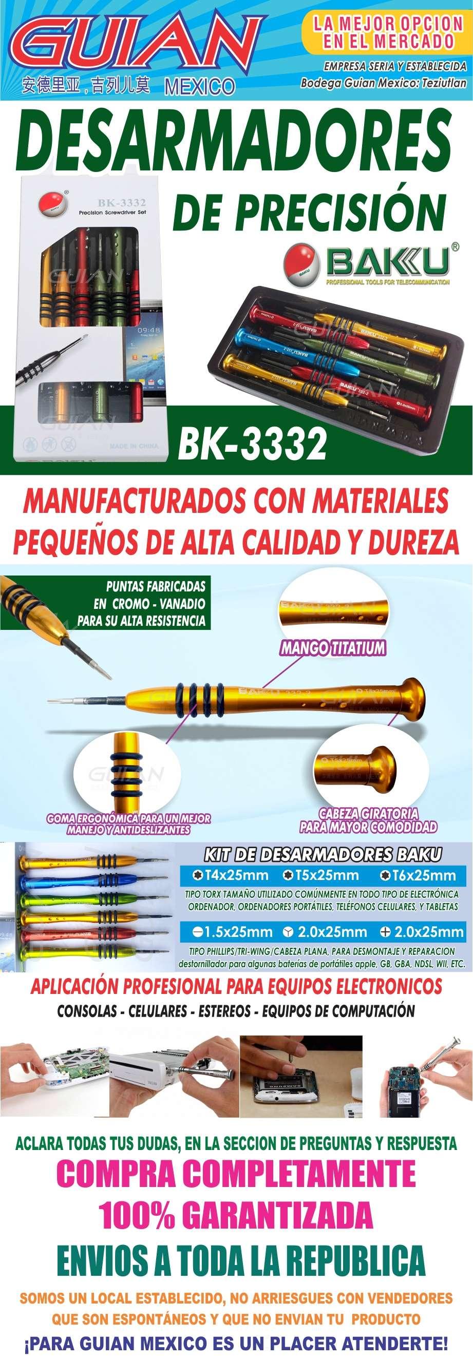 kit desarmadores precision baku