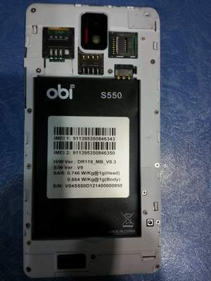 Picture of S550 Obi Mt6582 Flash file Download free Firmware