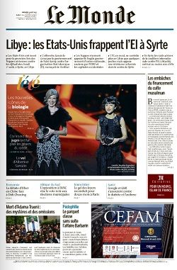 Le Monde du Mercredi 3 Août 2016