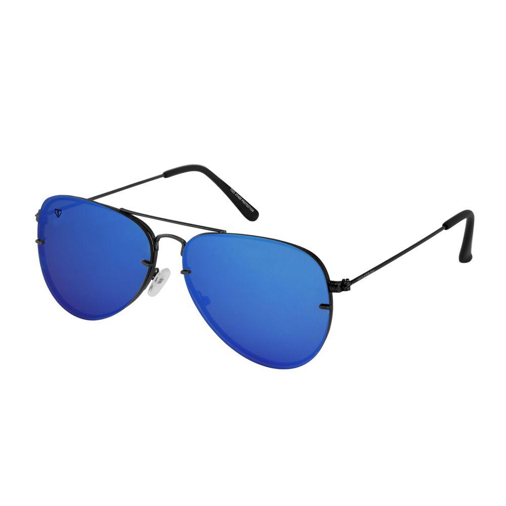 Walrus Noah Blue Mirror Color Unisex Aviator Sunglass - WS-NOAH-201818