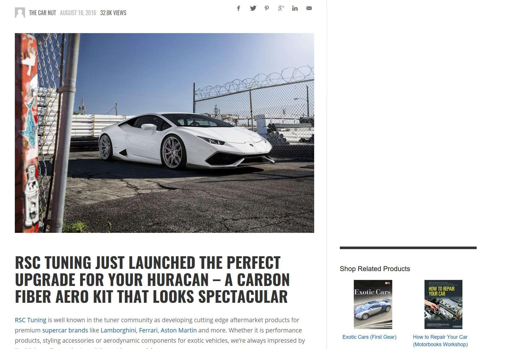 Supercars.net RSC Huracan Kit Review