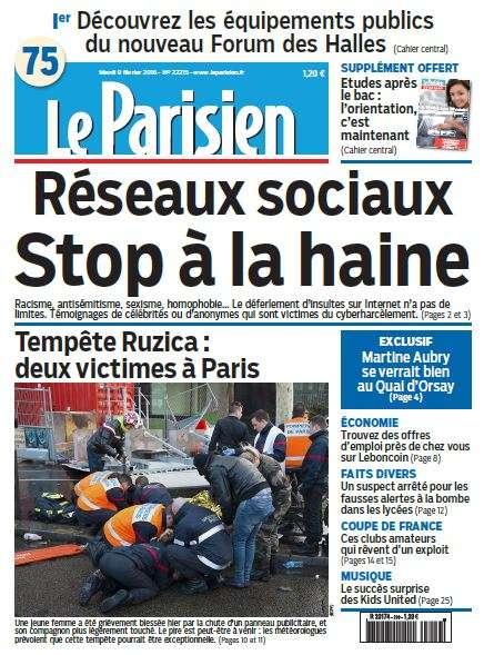 Le Parisien + journal de Paris du Mardi 9 Février 2016