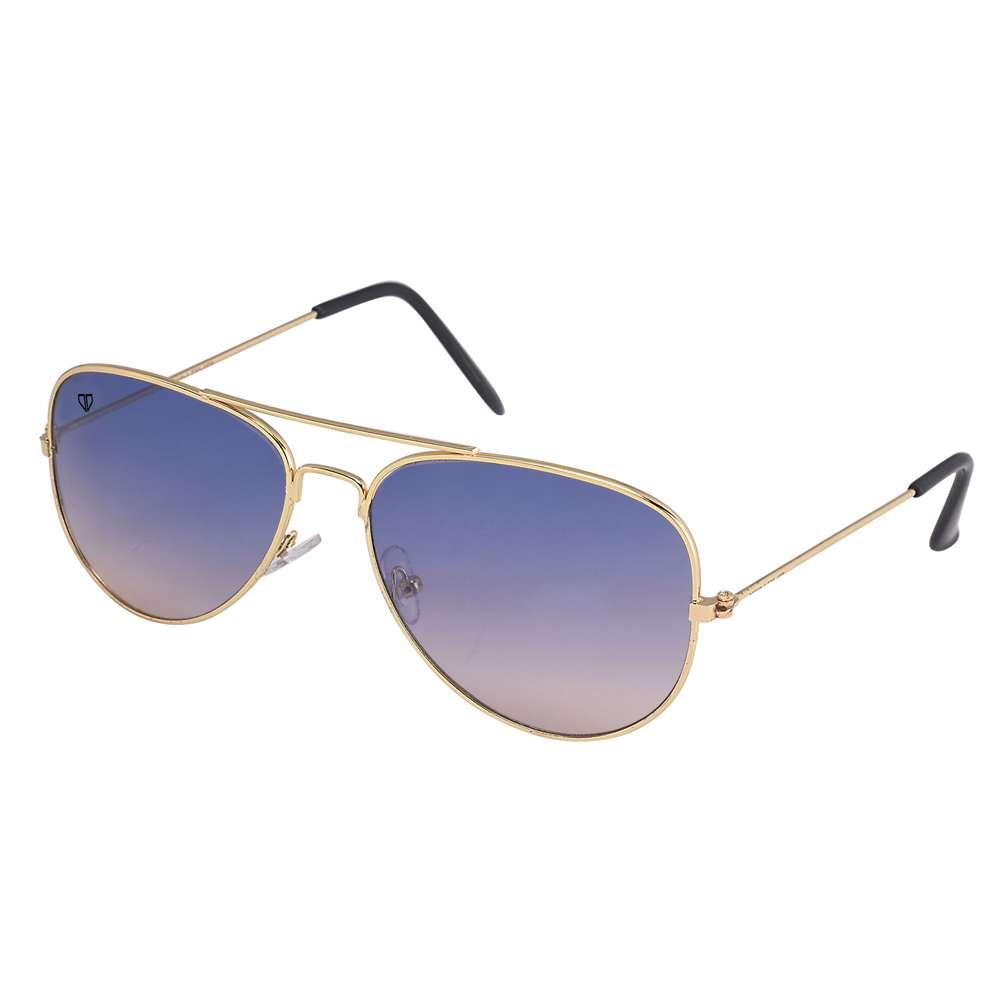Walrus John Blue Gradiat Color Unisex Aviator Sunglass - WS-JOHN-280606