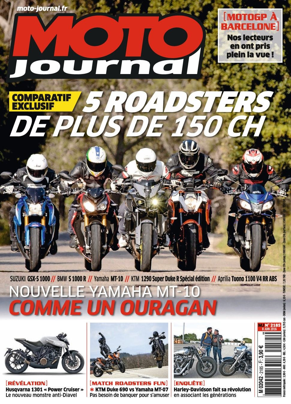 Moto Journal 2185 - 08 Juin 2016