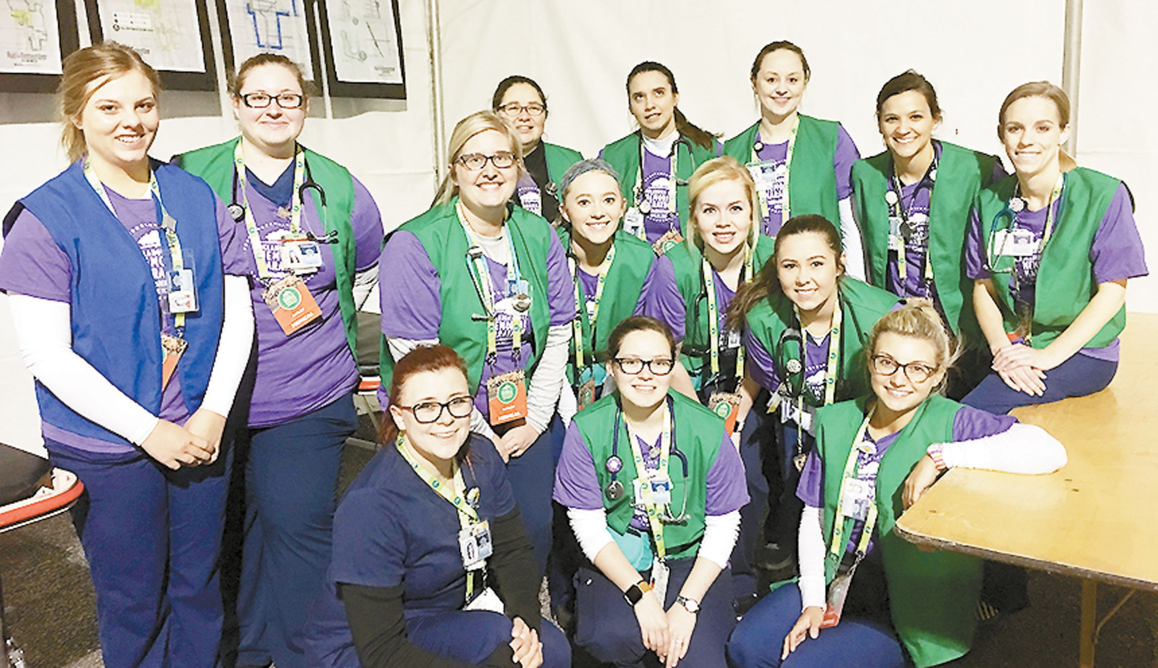 SWOSU Nursing Students Help with Memorial Marathon for 11th Straight Year