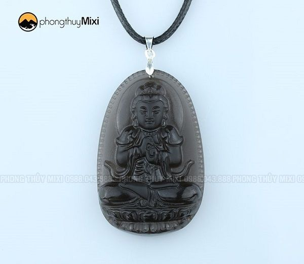 giấy giám định Phật Bản Mệnh Như Lai Đại Nhật Obsidian khói to