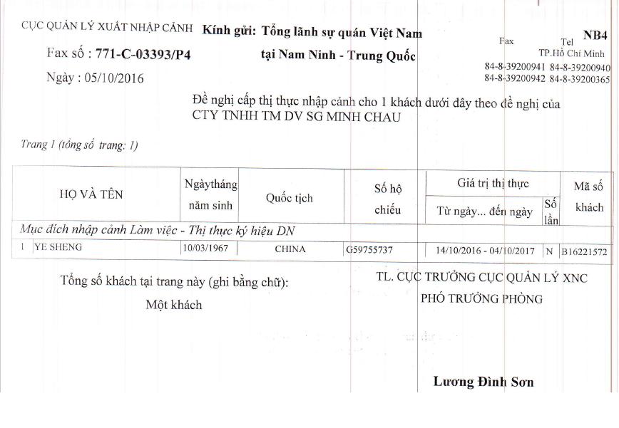 Dịch vụ gia hạn visa Việt Nam khẩn 1 ngày tại Sài Gòn