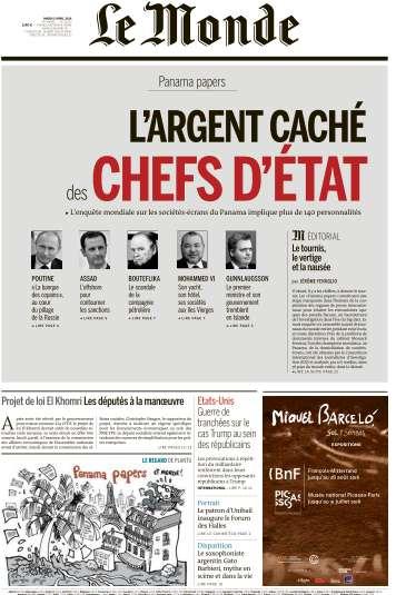 Le Monde du Mardi 5 Avril 2016