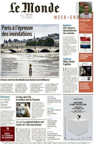 Le Monde du Samedi 4 Juin 2016