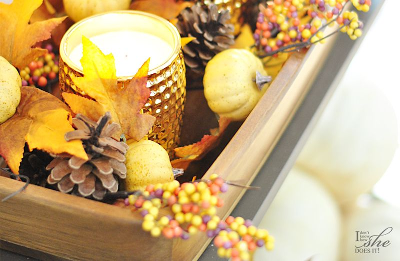Fall bowl with candles