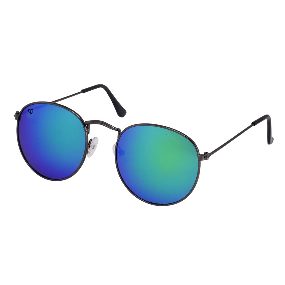 Walrus Royal Multicolor Mirror Color Unisex Oval Sunglass - WS-RYL-II-210202