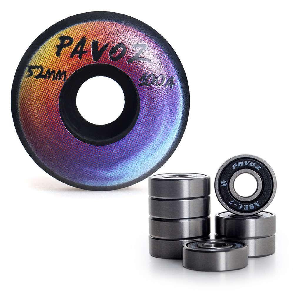 Räder für skateboard mm a regenbogen schwarz mit