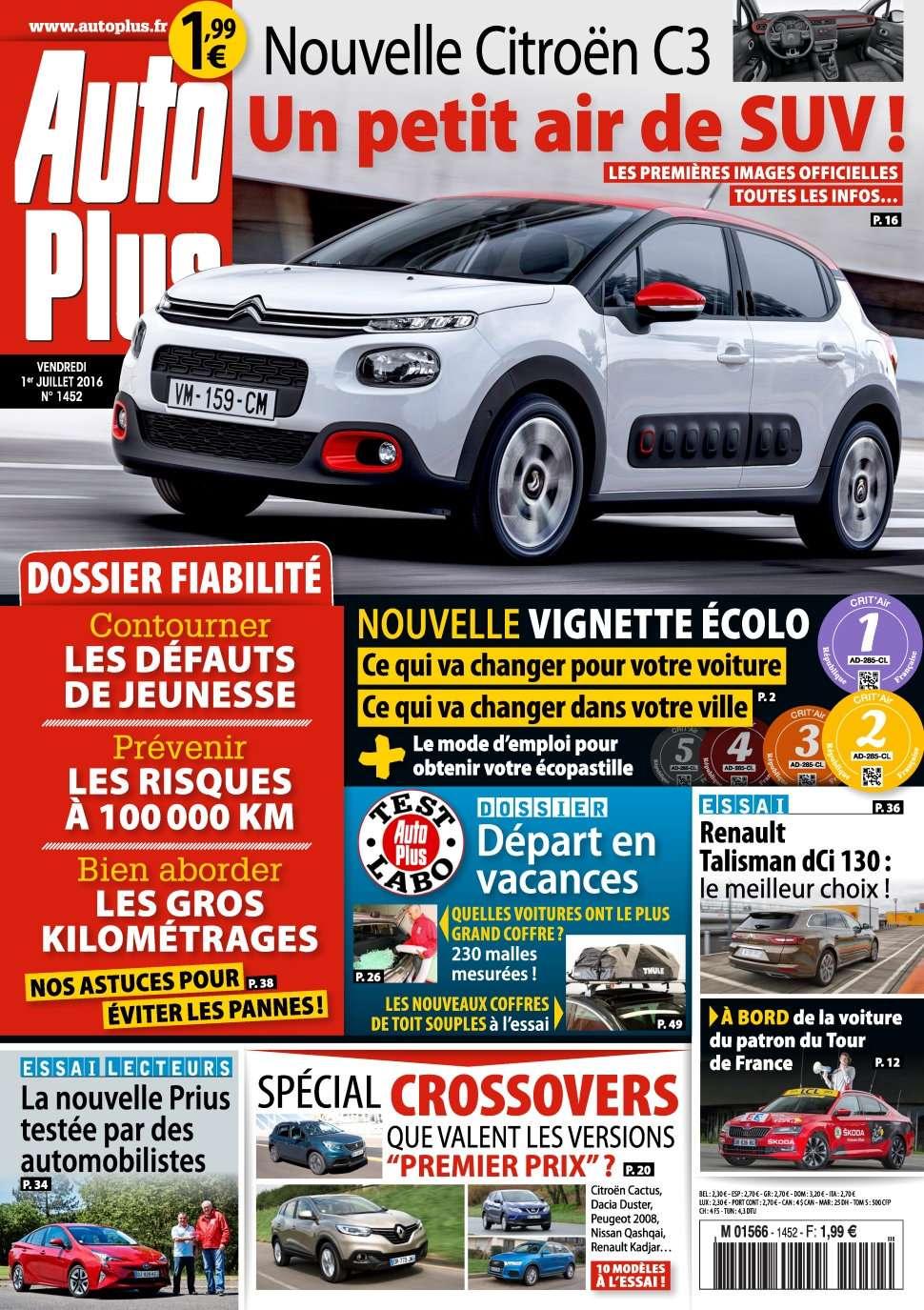 Auto Plus 1452 - 1 au 7 Juillet 2016
