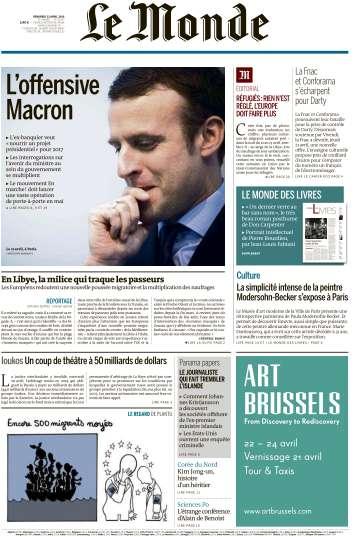 Le Monde du Vendredi 22 Avril 2016