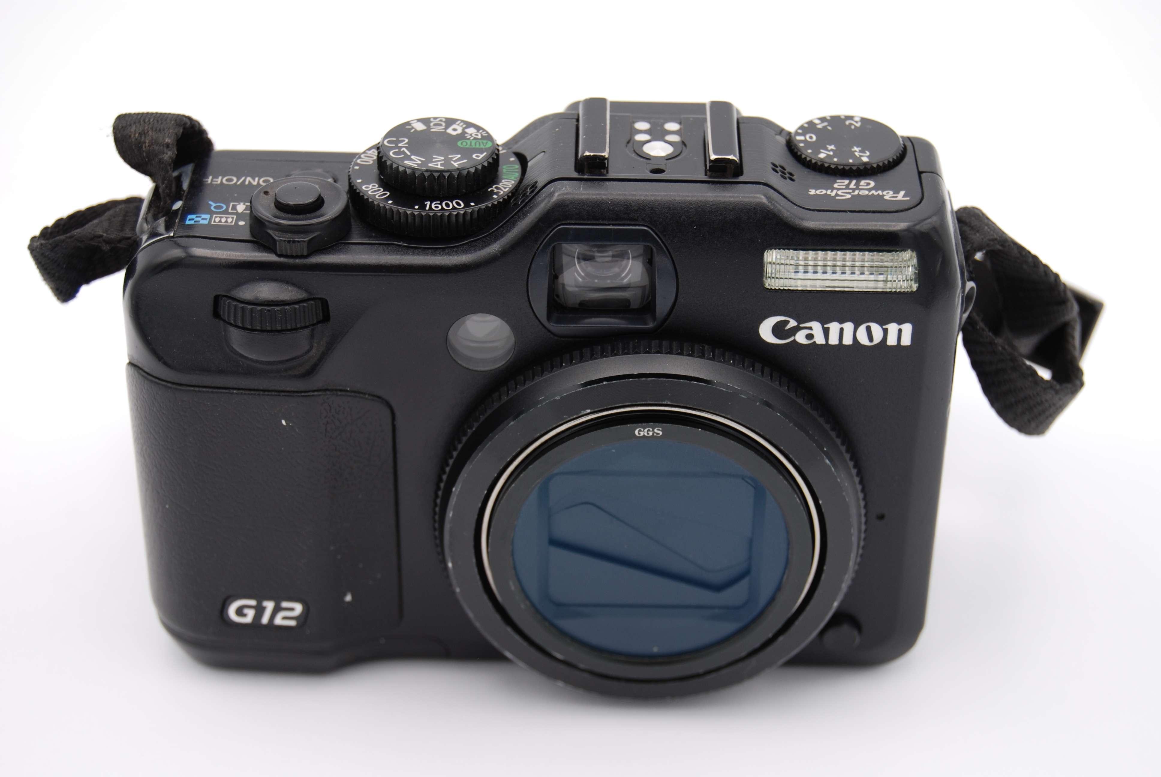 canon powershot g12 10 0 mp digital camera black. Black Bedroom Furniture Sets. Home Design Ideas