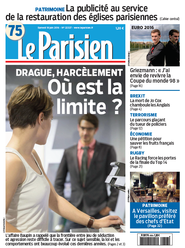 Le Parisien + Journal de Paris du Samedi 18 Juin 2016