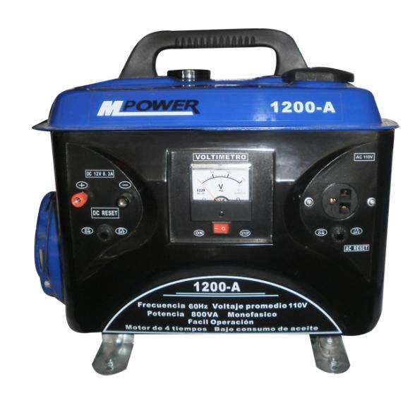 Generador Gasolina Mpower 1200w 2.5hp Arranque Man