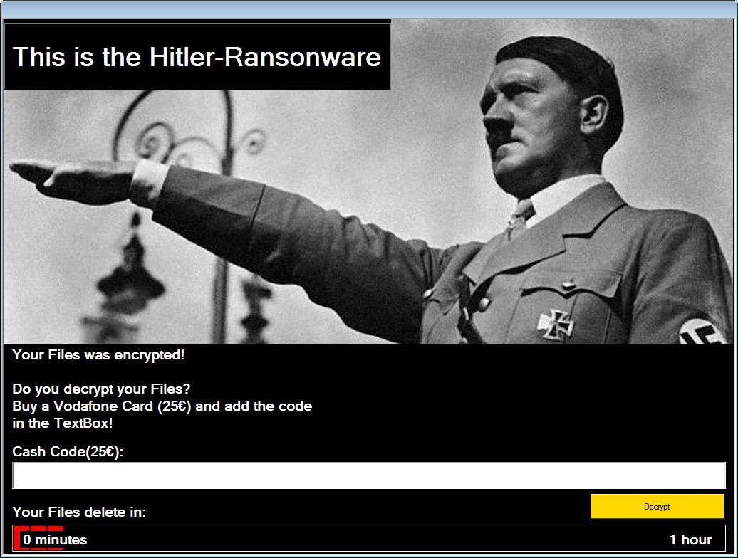 ฮิตเลอร์ Ransomware