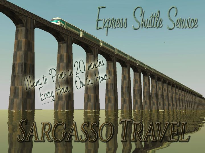 My Projects - Advertisement Land - Sargasso Travel Poster: Introduction of Express Shuttle Service, Image 01