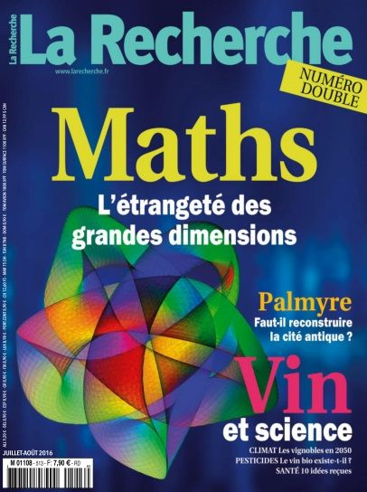 La Recherche - Juillet/Août 2016