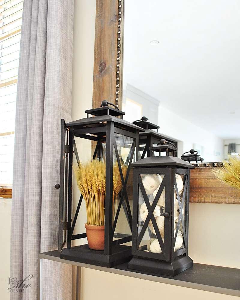 Outdoor lanterns indoor