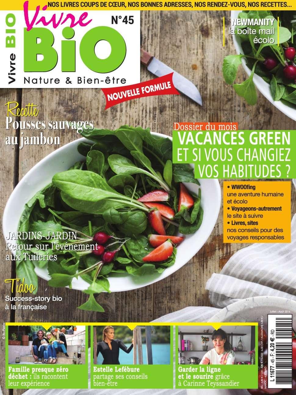 Vivre Bio 45 - Juillet/Aout 2016