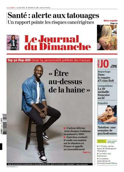 Le Journal du Dimanche du 14 Août 2016