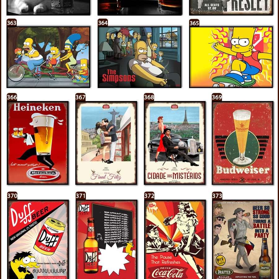 Placas, Vintage, Retro, Cerveja, Decoração, Antigas, MDF, Corvette, Fotos Antigas, Rota 66
