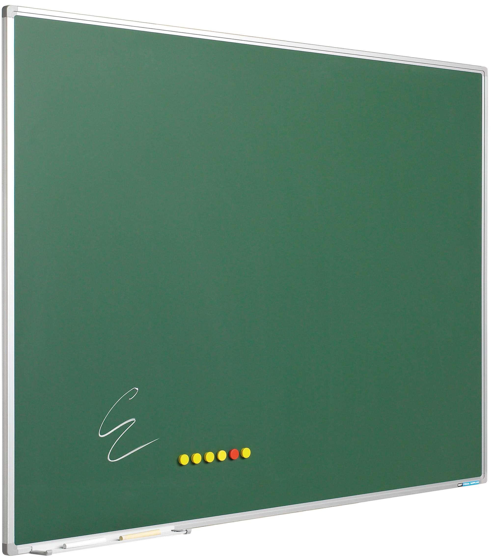 Photo: Krijtbord Softline profiel 8mm, emailstaal groen