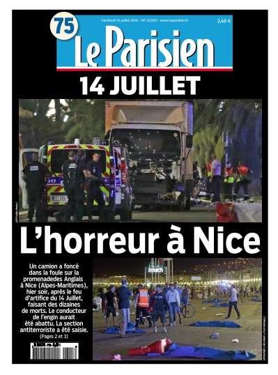 Le Parisien du Vendredi 15 Juillet 2016