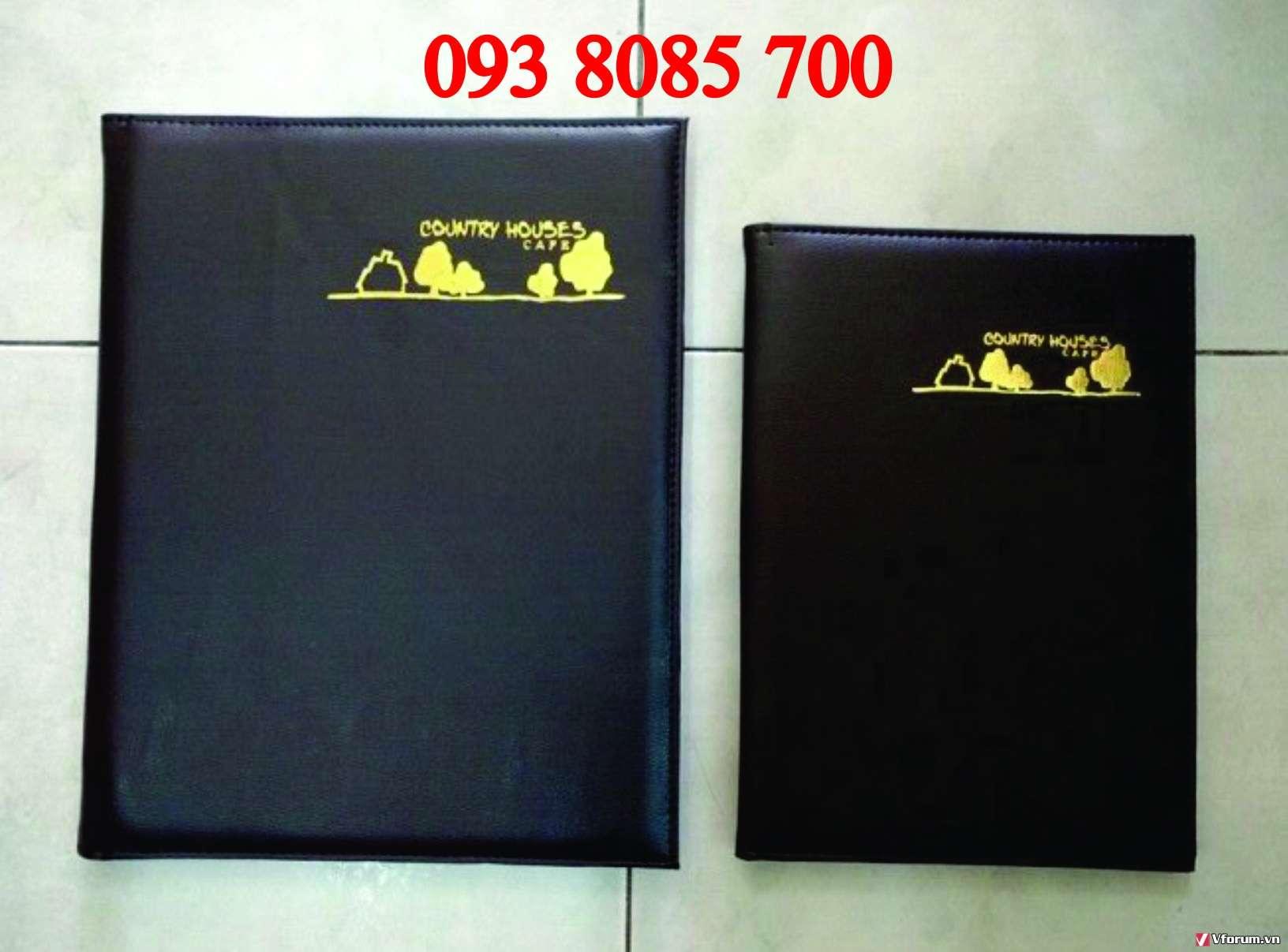Nhà cung cấp bìa menu, thực đơn quán ăn, làm bìa trình ký, bìa kẹp hồ sơ simili,bằng tốt nghiệp