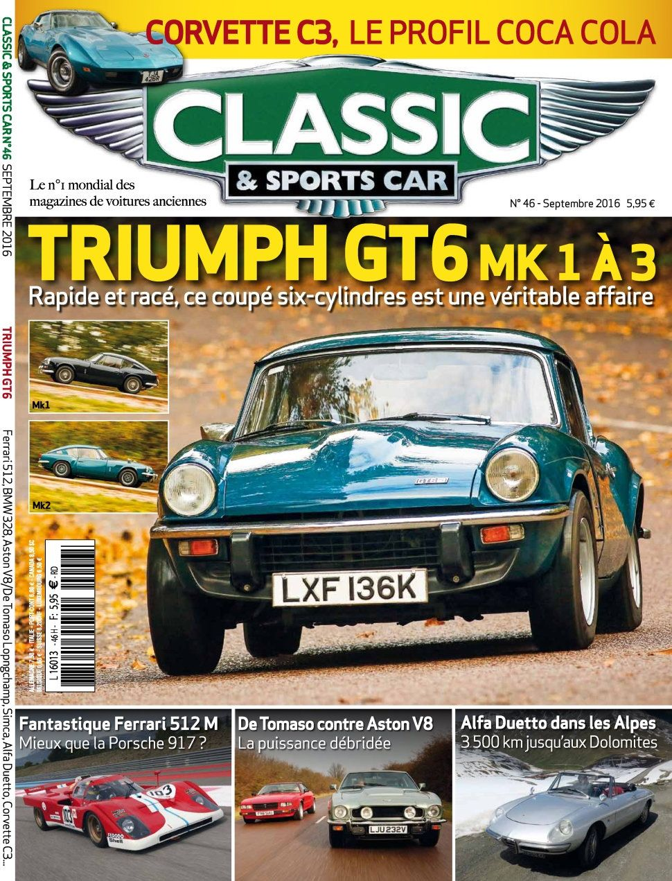 Classic & Sports Car 46 - Septembre 2016
