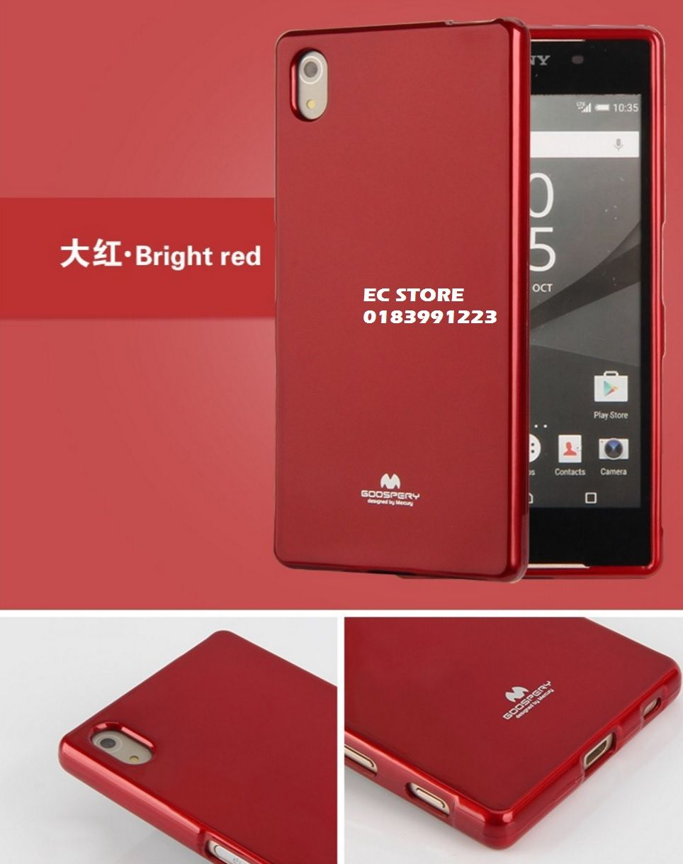 Sony Xperia Z4 Z5 Goospery Mercury End 8 10 2019 1115 Pm Pearl Jelly Case All Type Special  Red 1 Compatible For Phone Models 2 Made Of High Quality Material 3 Good Touching Feeling Better Gripping 4 Perfectly Fits The Shape