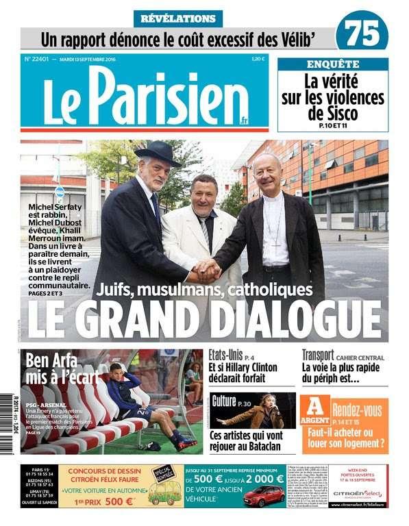 Le Parisien du Mardi 13 Septembre 2016