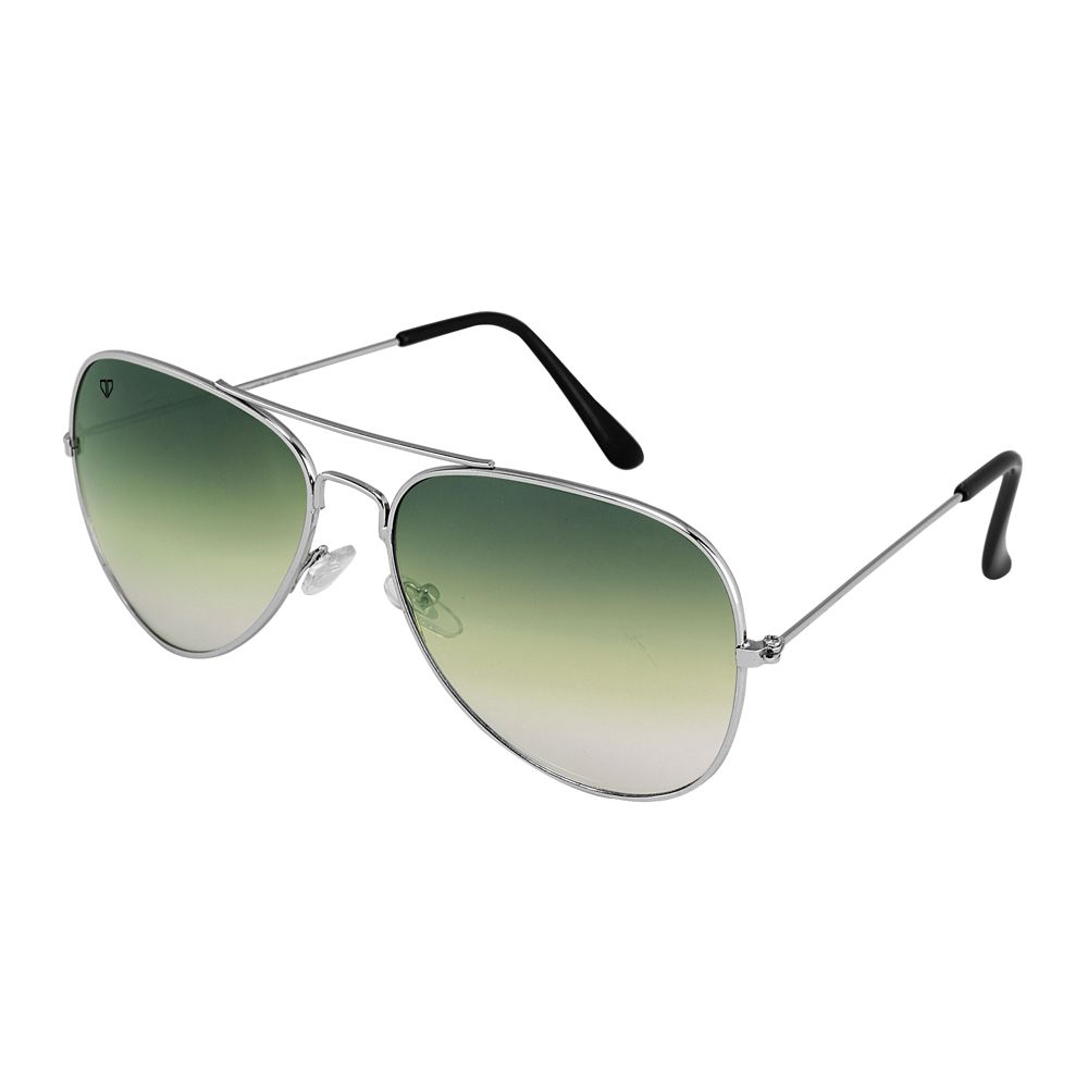 Walrus John Green Color Unisex Aviator Sunglass - WS-JOHN-040707