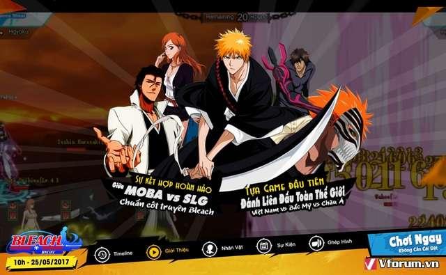 Game mới Bleach Online chính thức cập bến Việt Nam vào ngày 25/05