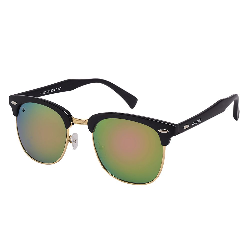 Walrus Michel Green Mirror Color Unisex Wayfarer Sunglass- WS-MCHL-190206