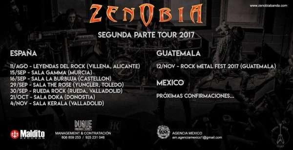 Zenobia - próximas fechas