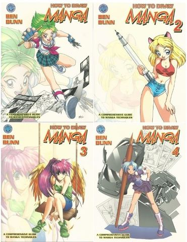 How to Draw Manga Supersize Edition 4 Volume Set, Ben Dunn