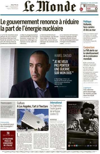 Le Monde du Jeudi 14 Avril 2016